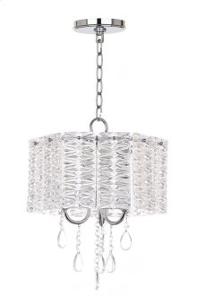 Harlyn 3 Light 13.5-INCH Dia Chandelier - Clear / Chrome Shade Color: Clear
