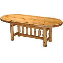 Oval Dining Table - 8-foot - Natural Cedar - Armor Finish