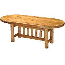 Oval Dining Table - 5-foot - Natural Cedar