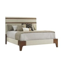 Mandarin Upholstered Panel Bed King