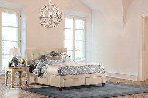 Duggan 6 Drawer Storage Bed - King - Rails Included