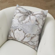Mirror Match Square Pillow-Grey/Blue