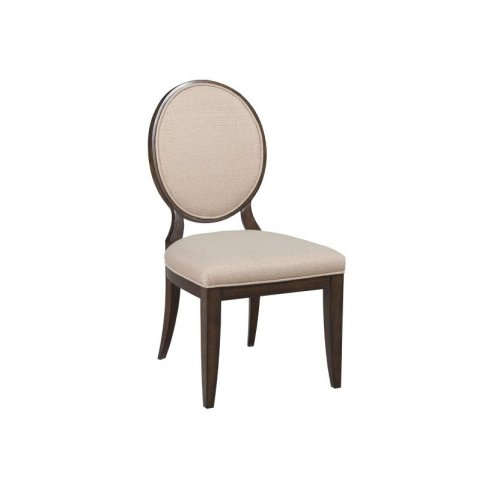 Uph Side Chair W/decorative Back-kd