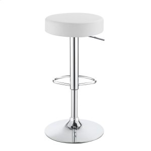Modern White Adjustable Bar Stool