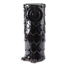 Owl Umbrella Stand Black