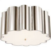 Visual Comfort AH4021PN-FG Alexa Hampton Markos 4 Light 26 inch Polished Nickel Flush Mount Ceiling Light in Frosted Acrylic