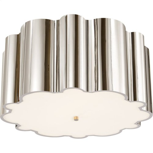 Visual Comfort AH4021PN-FG Alexa Hampton Markos 4 Light 26 inch Polished Nickel Flush Mount Ceiling Light