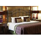 BED - QUEEN OR FULL SIZE / BLACK HEADBOARD OR FOOTBOARD Product Image