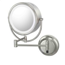 Brushed Nickel Double Sided Mirror Hard-Wire