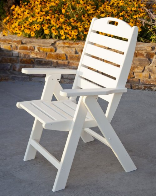 Teak Nautical Highback Chair