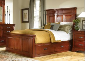 Queen Storage Mantel Bed