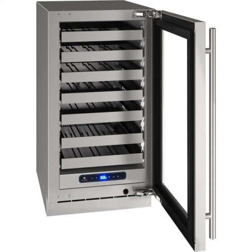 "5 Class 18"" Wine Captain® Model With Stainless Frame Finish and Field Reversible Door Swing (115 Volts / 60 Hz)"