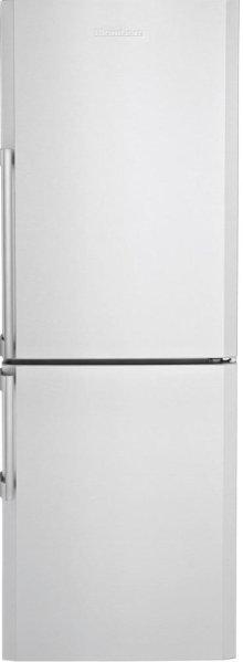"24"" Bottom Freezer/Fridge 10,4 cuft, Led Illumination, Stainless Steel, Edge Bend Antifingerprint"