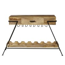 Metal Frame Wine Console