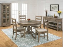 Round Table & 4 Ladder Back Chairs