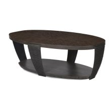 Oval Cocktail Table (w/ Casters)