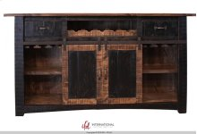 HOT BUY CLEARANCE!!! Wooden Bar Top & Base w/Iron footrest