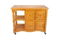 Sunset Trading Regal Kitchen Cart in Light Oak Finish - Sunset Trading