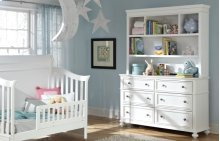 Madison Nursery Bookcase/Hutch with Dresser