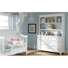 Madison Nursery Bookcase/Hutch with Dresser