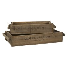 Wood Crate Trays