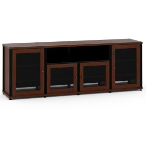 Salamander DesignsSynergy Solution 345, Quad-Width AV Cabinet, Walnut with Black Posts