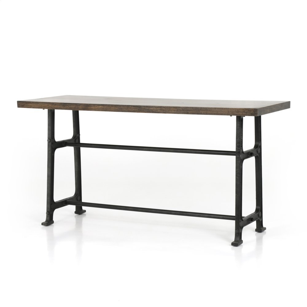 Counter Table Size English Brown Oak Finish Alistair Bar + Counter Table