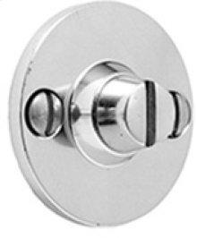 Antique Brass Unlacquered Bathroom coin release, visible fix