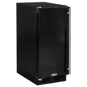 Marvel15-In Built-In All Refrigerator with Door Style - Black, Door Swing - Left