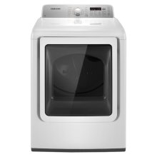 7.3 cu. ft. King-size Capacity Electric Front Load Dryer (White)