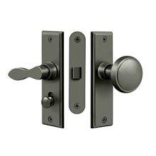 Storm Door Latch, Square, Mortise Lock - Antique Nickel