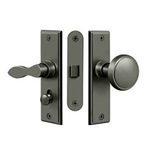 Storm Door Latch, Square, Mortise Lock - Antique Nickel