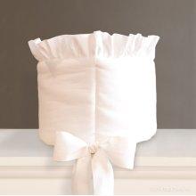 Bebe Pique Crib Bumper White