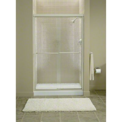 """Finesse™ Sliding Shower Door with Quick Install™ Mounting System - Height 70-5/16"""", Max. Opening 45-1/2"""" - Deep Bronze"""