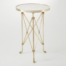 Directoire Table-Brass/White Marble