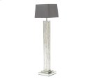 Montreal Mirrord Flr Lamp w/Crystl Accnt & Violet Rect Lamp Shade Product Image