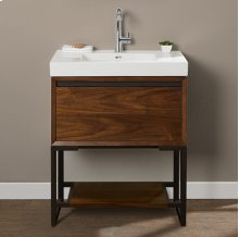 "m4 30x18"" Open Shelf Vanity - Natural Walnut"