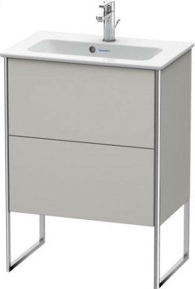 Vanity Unit Floorstanding Compact, Concrete Gray Matt Decor