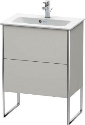Vanity Unit Floorstanding Compact, Concrete Grey Matt Decor
