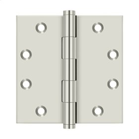 """4 1/2"""" x 4 1/2"""" Square Hinges - Polished Nickel"""