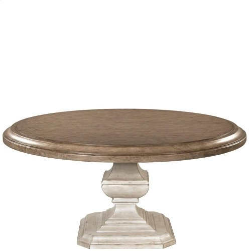 Elizabeth - 70-inch Round Dining Table Top - Antique Oak Finish