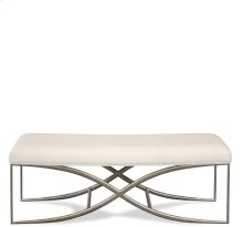 Sophie 48-Inch Upholstered Bed Bench Natural finish