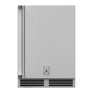 """Hestan24"""" Hestan Outdoor Undercounter Refrigerator (Solid Door) - GRSR Series - Steeletto"""