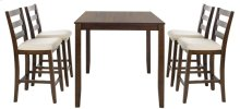 Melvin 5 Piece Pub Set - Brown / Beige