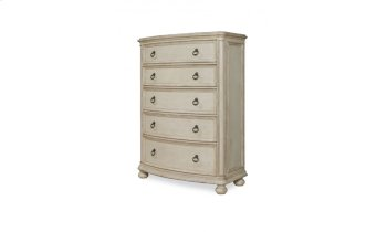 Provenance Five Drawer Chest with Bun Foot - Linen Product Image