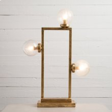 Clara Table Lamp- Gold Leaf