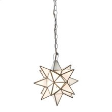 Large Star Chandelier With Frosted Glass.