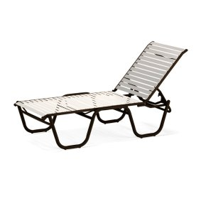 Reliance Contract Strap Four-Position High Bed Lay-flat Stacking Armless Chaise
