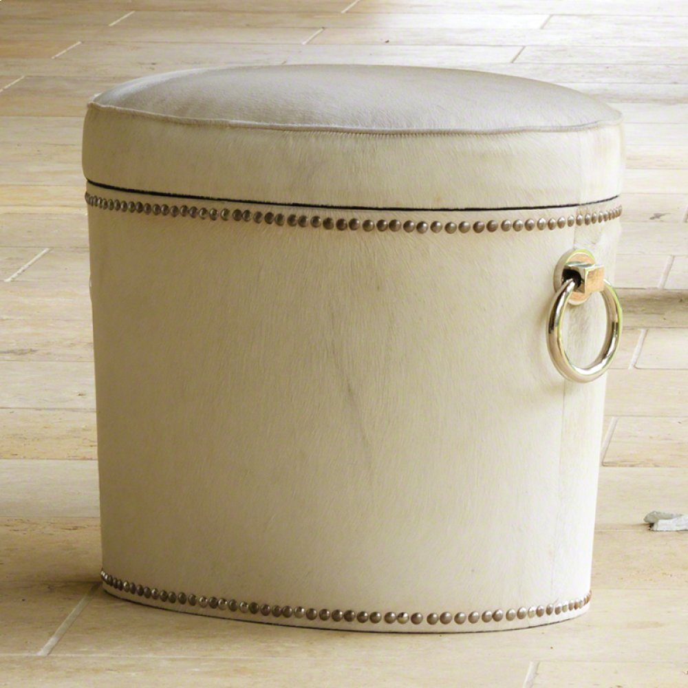 Chalis Cowhide Ring Bench