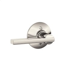 Latitude Lever Non-turning Lock - Polished Nickel